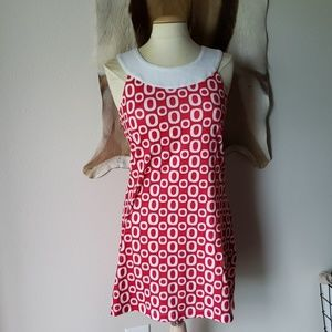 Athleta red and white dress with underwire bra